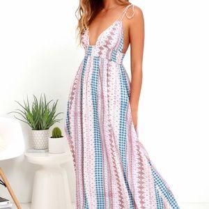 Lulu's print maxi dress